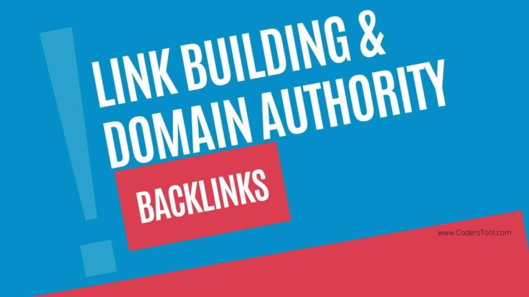 link building, domain authority